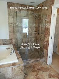 virginia glass shower door install with sleeve over glass clamp