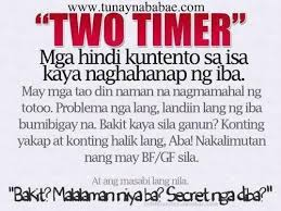 Quotes About Time Classy Two Timer Life Pinterest Pinoy Quotes