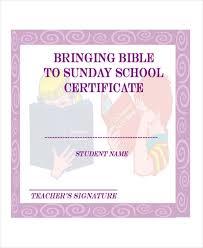 Vbs Certificate Template Sunday School Certificate Template 9 Word Excel Pdf Ai