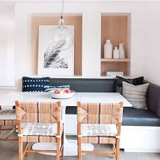 Serena & Lily chairs, love the vinyl banquette, design by Amber ...