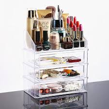2018 New Clear Acrylic Makeup Organizer Desktop Cosmetic Storage Box  Lipstick Nail Polish Holder Women Makeup Tools Container From Pagoda,  $20.35 | Dhgate.