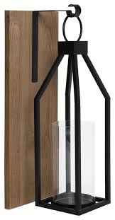 oakly wood and metal wall sconce candle
