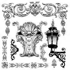 Ornamental Design Drawing Hand Draw Vintage Sketch Ornamental Design Element Stock