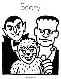 Scary Monster Coloring Pages Scary Monster Coloring Pages Scary