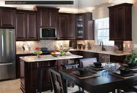 Kitchen Design  Awesome Two Toned Cabinets Colored Cabinets Best - Dark brown kitchen cabinets