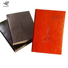 cheng jia 2017 new eiffel tower travelers notebook a5 leather embossed dairy planner office stationery journal vintage notebooks malaysia