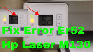 how to fix printer hp laserjet M130a error code Er52 - YouTube