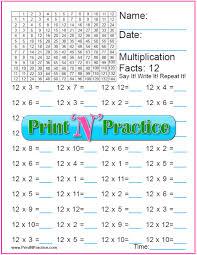 12x12 Multiplication Chart Pdf 70 Fun Multiplication Worksheets Charts Flash Cards