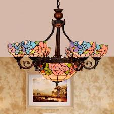 ceiling lights excellent thunder 8 light antique stained glass chandelier downlight for bedroom intended for