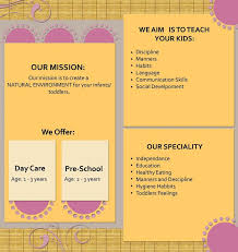 brochure daycare brochure by aashoo on brochure daycare brochure by aashoo