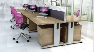 birch office furniture. domino beam rectangular set of 6 birch office furniture