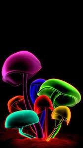 3D Mushrooms iPhone Wallpaper - Best ...
