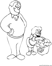 Small Picture Father Daughter Coloring Page Family coloring page