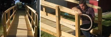 wood residential ramp we build custom