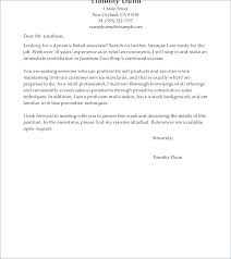 Cover Letter For Retail Sales Cover Letter Retail Examples Assistant