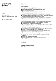 Sample Resume Of Java Developer Resume For Study