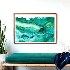 >extra large framed prints uk living room art surprising idea  large framed artwork uk undercurrent emerald ink art print ocean surf watercolor abstract large framed art