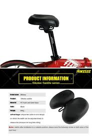 Adjustable Width Large Bicycle Saddle Black Mtb Soft Foam