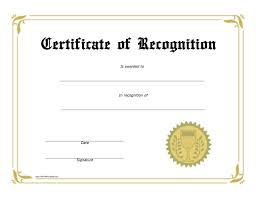 free recognition certificates recognition award certificate free printable