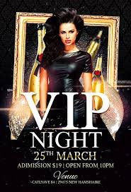 club flyer templates vip night club flyer template for photoshop awesomeflyer com