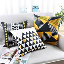 Image Mustard Yellow Nordic Cushion Cover Velvet Geometric Cushion Yellow Decorative Pillows Black Velvet Cushions Cover Home Decor Pillow Aliexpress Nordic Cushion Cover Velvet Geometric Cushion Yellow Decorative