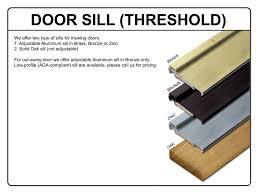 exterior door sill detail. aluminum exterior door sill detail a
