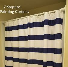 Creating Custom Curtains With Paint Painted Curtains Craft