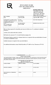 Construction Proposal Template Bid Forms Form Samples Example Sample