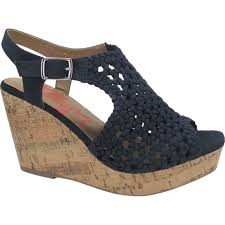 Jellypop Womens Gerry Woven Wedge Shoes Wedge Shoes