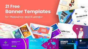 Free Design Templates 21 Free Banner Templates For Photoshop And Illustrator