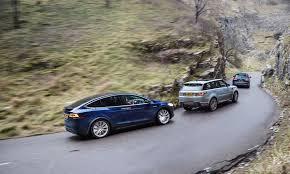 Tesla Model X vs Audi Q7 vs Range Rover Sport triple test review ...