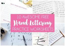 hand lettering worksheets. 10 free hand lettering practice worksheets   dawnnicoledesigns.com