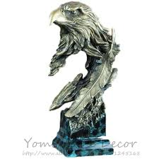 Small Picture 14 High Large Decorative Resin Eagle Head Bust Statue With