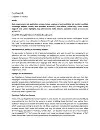 Cv Pattern Avoid This Wrong Cv Pattern In Pakistan For Job Search By