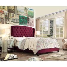 felisa upholstered panel bed.  Upholstered French Burgundy Intended Felisa Upholstered Panel Bed U