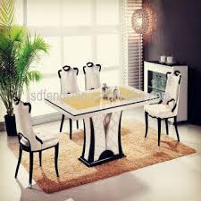 china t 1303 italian dining room tables temporary modern marble dining tables set