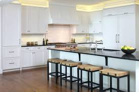 white cabinets concrete countertops traditional kitchen metal and wood shaker