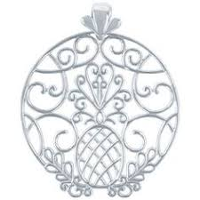 southern gates 38mm circle pineapple scroll pendant in sterling silver southerngates southern jewelry