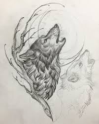 tribal wolf and moon drawing. Beautiful And Instagram Post By Matt Buck U2022 Mar 7 2017 At 723pm UTC Tribal Wolf  On And Moon Drawing O