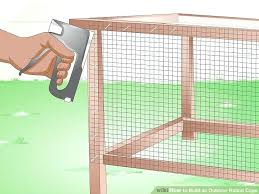 image titled build an outdoor rabbit cage step 7 outside bunny cages diy