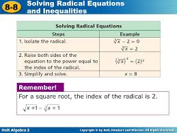 for a square root the index of the radical is 2