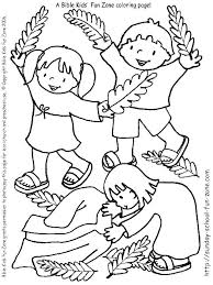 Palm Sunday Coloring Pages Free Printable Sheets Colouring Page For