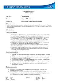Nursery Nurse Sample Resume Brilliant Ideas Of Nursery Nurse Samplesume Birthday Invitation 1