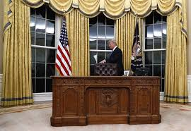 oval office furniture. delighful oval poolgetty images donald trump walks around the resolute desk during a  ceremony in oval office carolyn kasterap throughout office furniture l