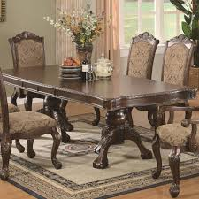 Two Pedestal Dining Table Buy Andrea Traditional Double Pedestal Dining Table By Coaster