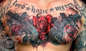 Мужские <b>татуировки</b> на грудине 2   Пистолет <b>татуировки</b> ...