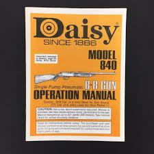 Original Vintage Daisy Model 840 Bb Pellet Gun Air Rifle Owners Manual 1980s