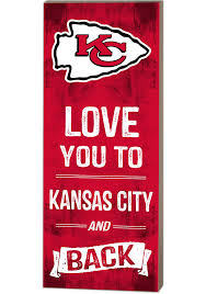 kansas city chiefs 18x7 love you to and back wall art