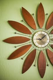 wooden flower clock mid century modern feel christina diane blank wall clock frei