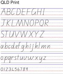 Queensland Cursive Alphabet Chart Practice Sheet For Queensland Print Handwriting Worksheets